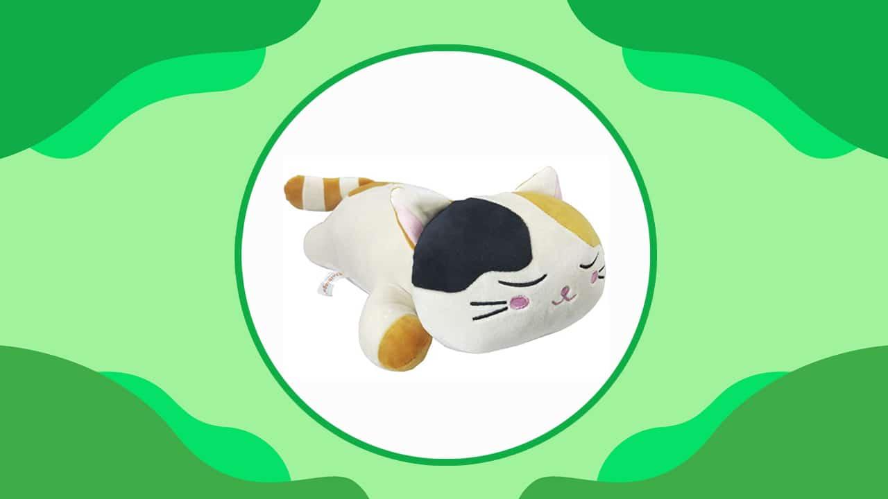 Calico Cat Plush Body Pillow
